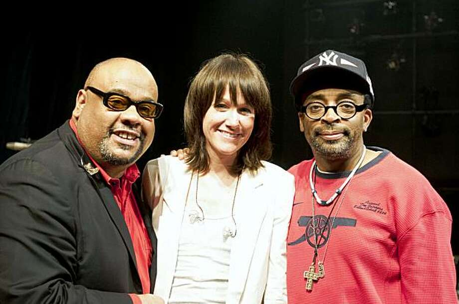 Writer and Composer Stew, Composer and Musician Heidi Rodewald and Director Spike Lee on the set of PASSING STRANGE THE MOVIE directed by Spike Lee Photo: David Lee, Special To The Chronicle