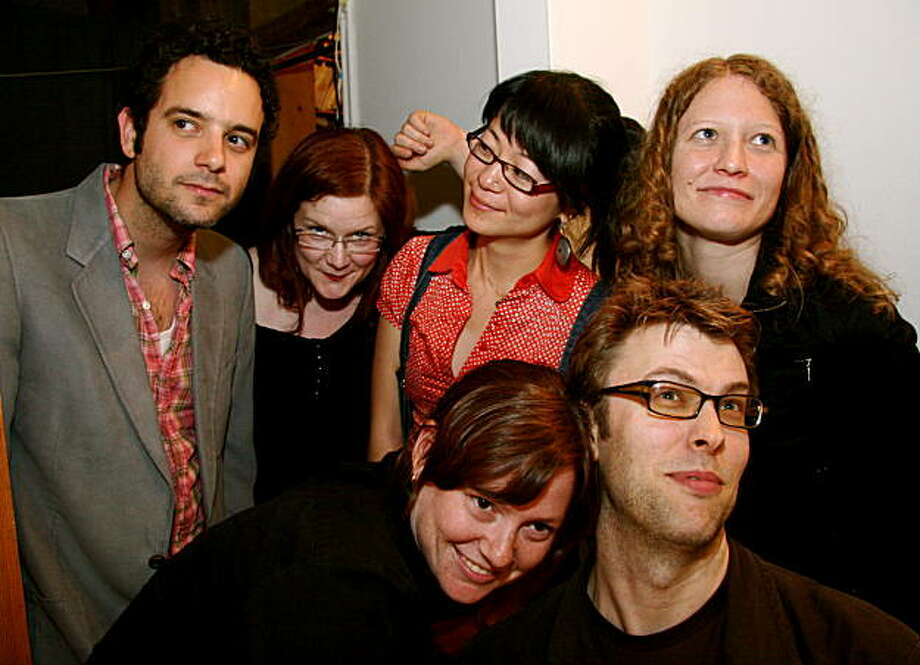 Thorny Brocky, featuring, from top left, Aaron Novik, Lisa Mezzacappa, Marié Abe and Kasey Knudsen; on bottom, from left, Dina Maccabee and Jamie Moore. Photo: Faye Chao