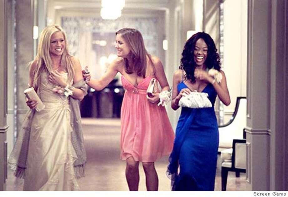 (L to R) Brittany Snow, Jessica Stroup, Dana Davis star in Screen Gems' thriller . Photo: Screen Gems