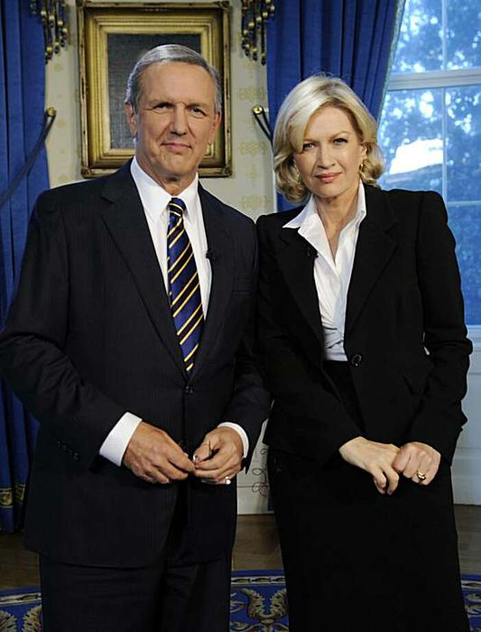"In this image released by ABC, ABC News' Charles Gibson and Diane Sawyer are shown at the White House in Washington on June 24, 2009. Gibson, who provided a steadying hand to a ""World News"", will retire at the end of the year and ABC News on Wednesday, Sept. 2, 2009, appointed Diane Sawyer to replace him in January. (AP Photo/ABC, Ida Mae Astute) Photo: Ida Mae Astute, AP"