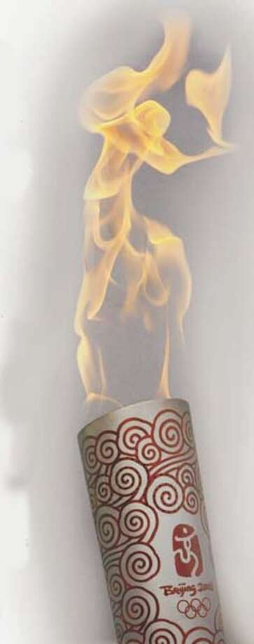Beijing Olympic Torch. Chronicle Graphic