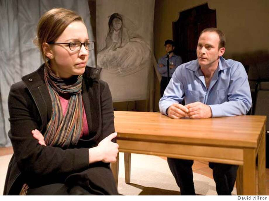 """Maggie Mason as Jenny and Dana Jepsen as Peter in TheatreFirst's production of Stephen Brown's """"Future Me."""" Photo: David Wilson ���2008 By David W"""