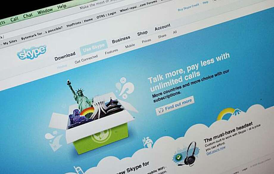 The Skype Web page is shown at the home of user Ed Ho in Palo Alto, Calif., Tuesday, Sept. 1, 2009. EBay Inc. is trading control of the online telecommunications service Skype for about $2 billion, reversing a 2005 acquisition that many analysts considered a head scratcher from the beginning. (AP Photo/Paul Sakuma) Photo: Paul Sakuma, AP