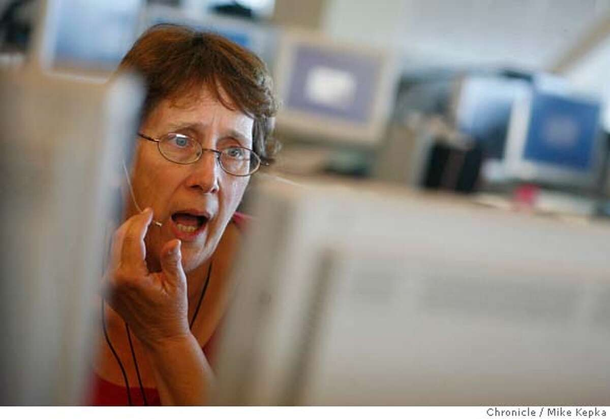 ###Live Caption:911 call takers like Louse Lopez are the first to respond in San Francisco's 911 chain of response. Mike Kepka / The Chronicle Photo taken on 4/11/07, in San Francisco, CA, USA###Caption History:911 call takers like Louse Lopez are the first to respond in San Francisco's 911 chain of response. Mike Kepka / The Chronicle Photo taken on 4/11/07, in San Francisco, CA, USA###Notes:###Special Instructions:MANDATORY CREDIT FOR PHOTOG AND SAN FRANCISCO CHRONICLE/NO SALES-MAGS OUT