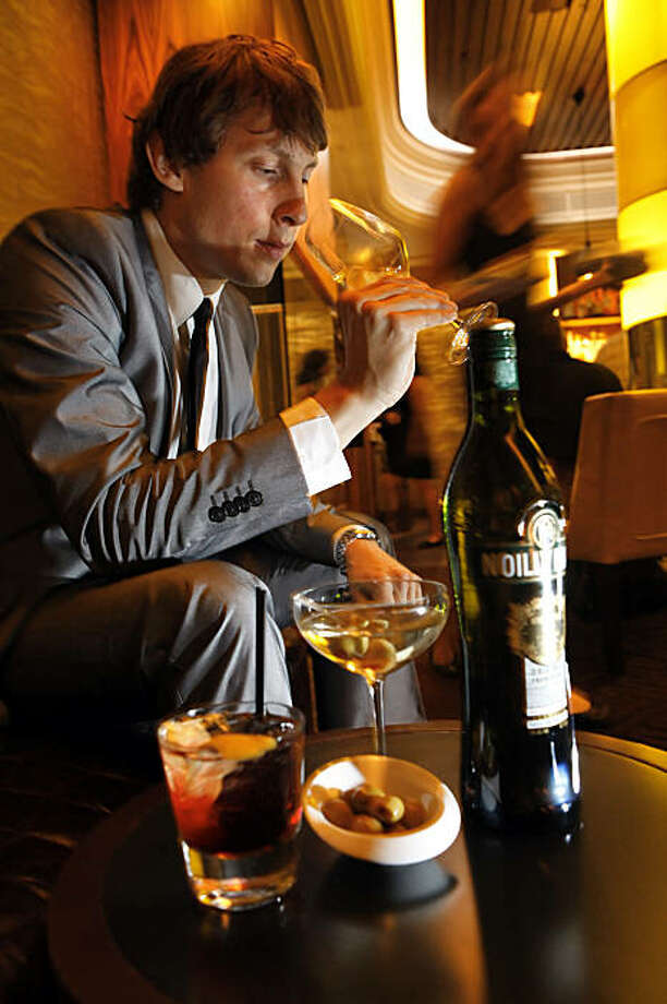 The brand ambassador for Noilly Prat Vermouth is Ludovic Miazga. He is seen here at the Westin St. Francis Hotel in San Francisco, Calif., on Tuesday, July 14, 2009. Photo: Carlos Avila Gonzalez, The Chronicle