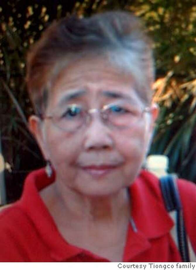 Florencia Tiongco of San Francisco was struck and killed by a San Francisco Department of Public Works truck on Friday, April 11, 2008.  Photo courtesy Tiongco family