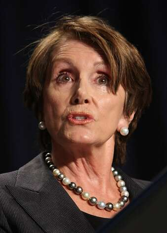 House Minority Leader Rep. Nancy Pelosi (D-CA) speaks at the National Prayer Breakfast February 2, 2012 in Washington, DC.  U.S. President Barack Obama also spoke, defending his economic policies in an echo of his recent State of the Union address. Photo: Getty Images