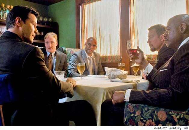 From left: Keanu Reeves, Jay Mohr, Amaury Nolasco, John Corbett and Forest Whitaker in STREET KINGS  20th Century Fox Photo: 20th Century Fox