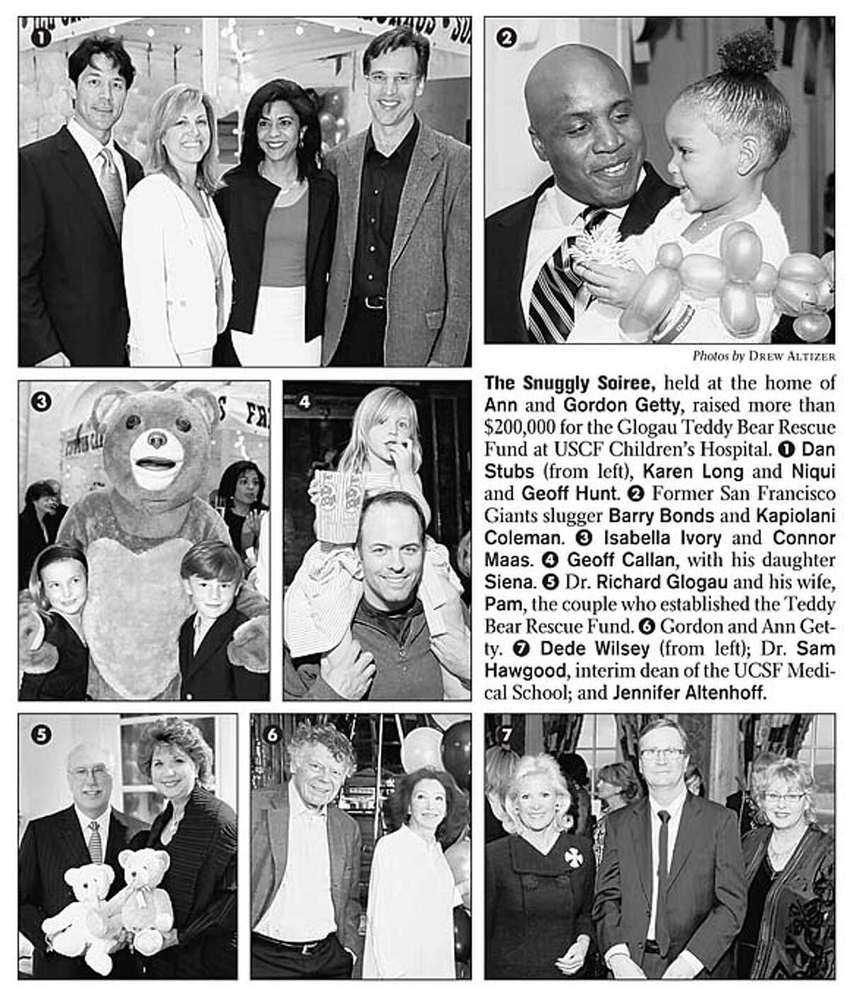 The Snuggly Soiree, held at the home of Ann and Gordon Getty, raised more than $200,000 for the Glogau Teddy Bear Rescue Fund at USCF Children's Hospital. Photos by Drew Altizer