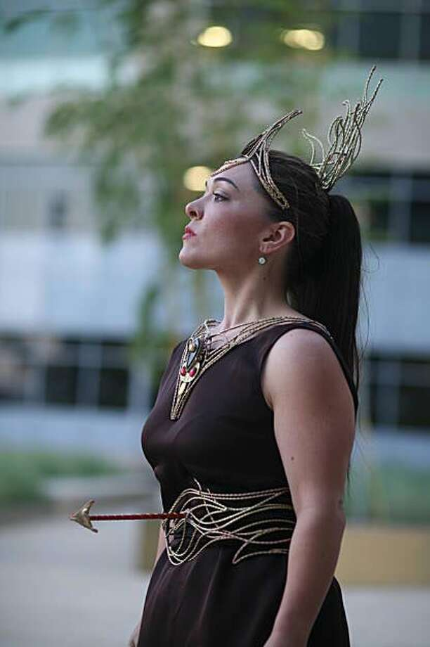 """Mezzo-soprano Kindra Scharich as Dido in the Urban Opera's production of Purcell's """"Dido and Aeneas"""" Photo: Kyle Hailey"""
