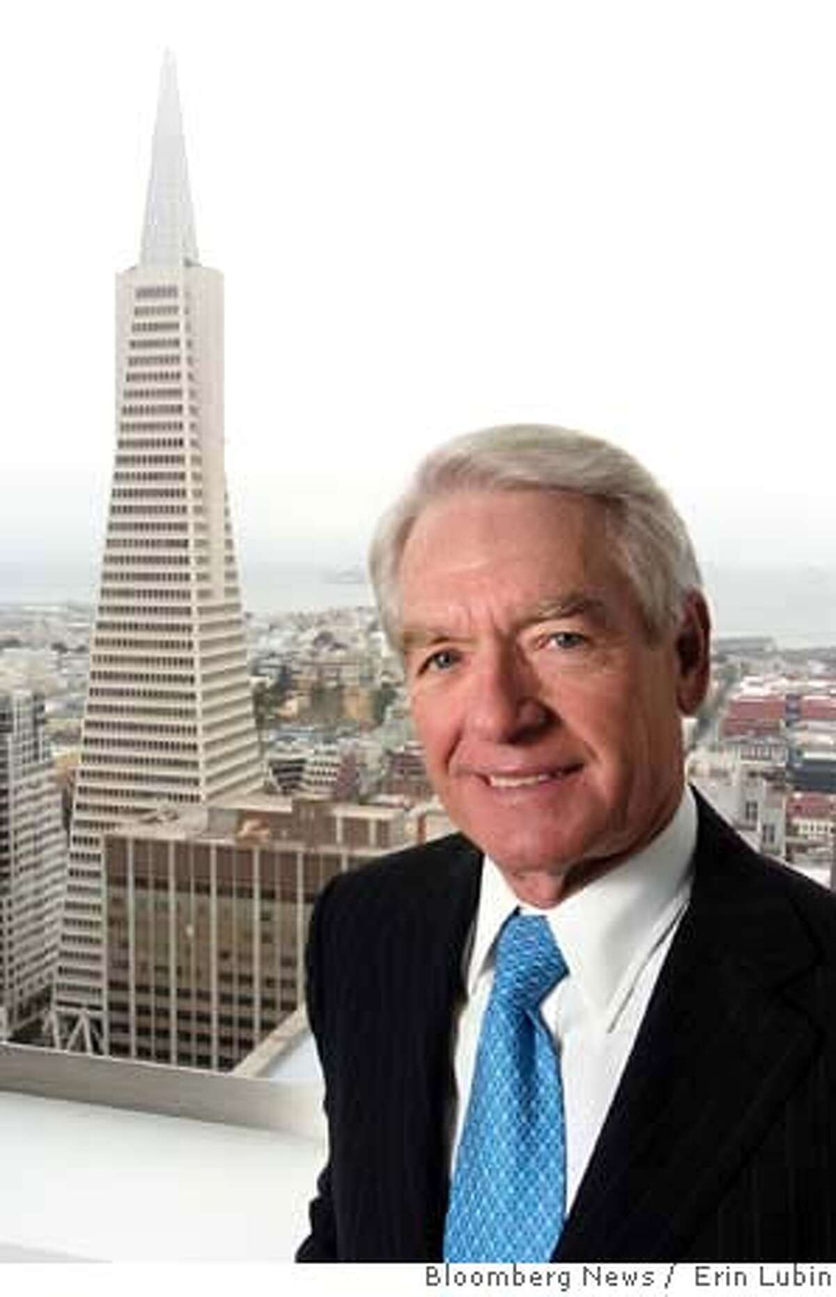 ###Live Caption:Charles Schwab, chairman, chief executive officer and founder, Charles Schwab Corp., stands near a window overlooking the Trans America building in San Francisco, California, on Friday, May 11, 2007. Photographer: Erin Lubin/Bloomberg News.###Caption History:Charles Schwab, chairman, chief executive officer and founder, Charles Schwab Corp., stands near a window overlooking the Trans America building in San Francisco, California, on Friday, May 11, 2007. Photographer: Erin Lubin/Bloomberg News.###Notes:###Special Instructions: