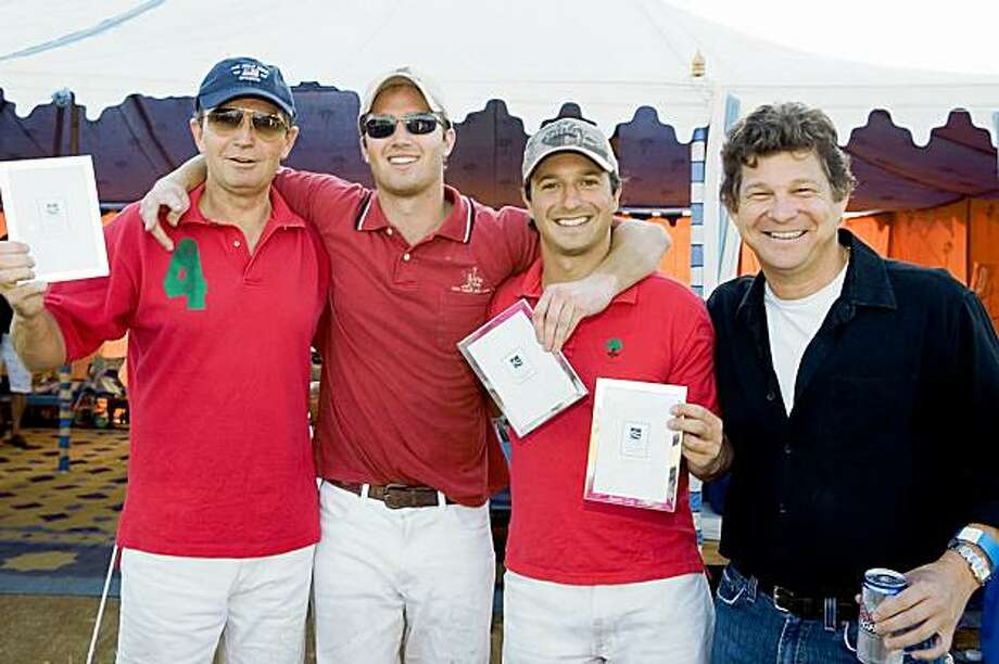 Oyster Cup Polo tournament and fundraiser for the Marin Nature Conservancy Dr. Robert White, Colin White, John Bickford, Ashton Wolfson Oyster Cup Polo tournament and fundraiser for the Marin Nature Conservancy Photo: Kathleen Harrison, Special To The Chronicle