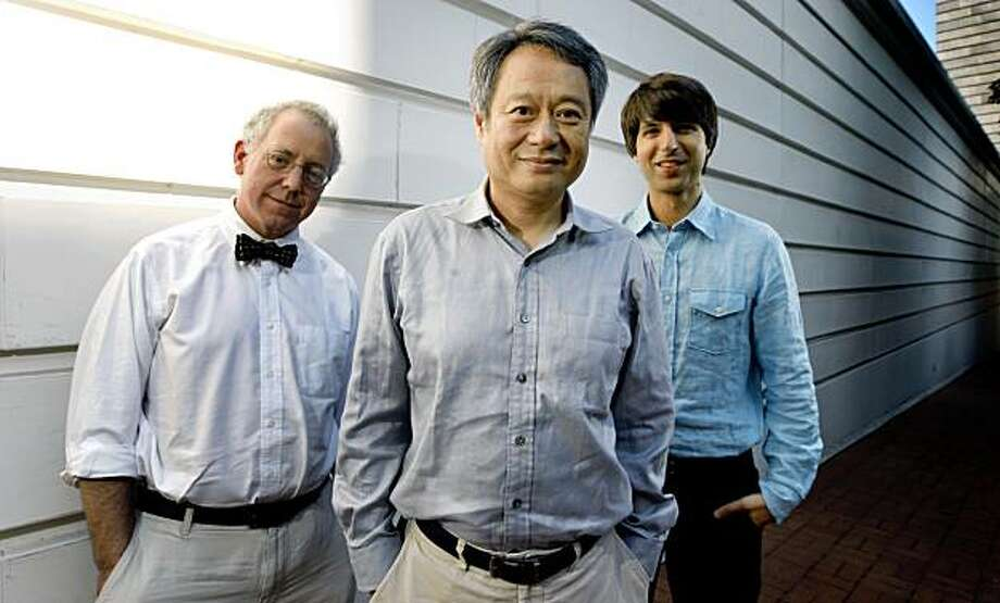 Ang Lee's newest movie Taking Woodstock profiles a family that runs a small hotel in upstate New York -- and ends up in the center of the historic event. Demetri Martin right stars in the film and James Schamus left is the producer. August 5, 2009. Photo: Lance Iversen, The Chronicle