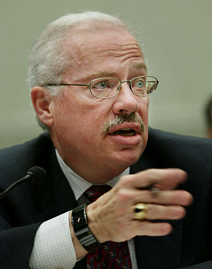 """Former Rep. Bob Barr, R-Ga, testifies before the House Judiciary Committee regarding the proposed Federal Marriage Amendment that would define """"marriage"""" as only the lawful union between a man and a woman on Capitol Hill, March 30, 2004 in Washington.  Barr, who is not a supporter of the same-sex marriage and opposes a constitutional amendment, is the author of the """"Defense of Marriage Act"""" commonly known as DOMA, which was signed into law by President Clinton in the fall of 1996.   (AP Photo/Manuel Balce Ceneta) Photo: Manuel Balce Ceneta, AP"""
