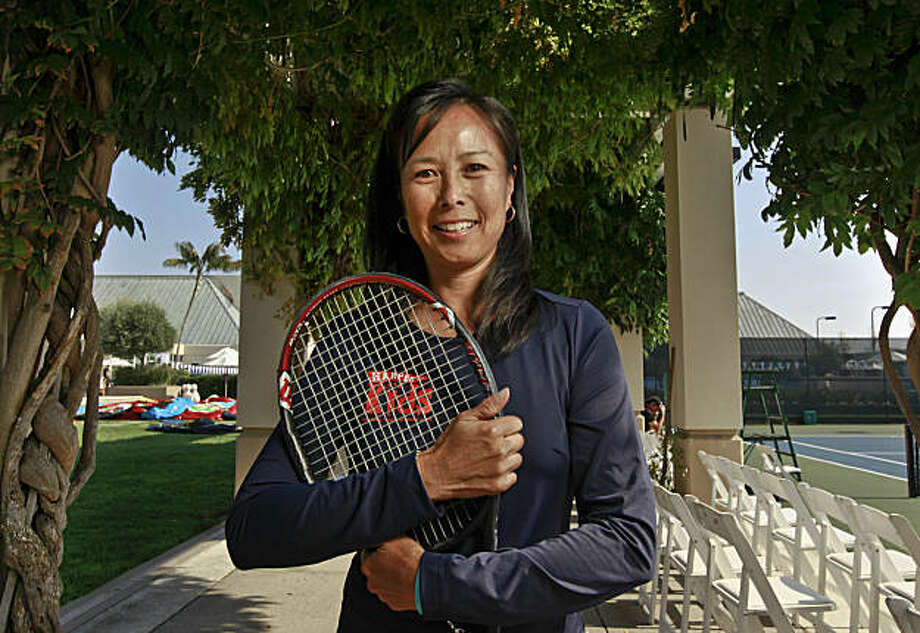 """Catching Up with Peanut Harper, who hosts the"""" Rally for Kids"""", a benefit for, """"Harper for Kids"""" of which she is the program director. Harper at the Pacific Athletic Club on Saturday August 15, 2009 in Redwood City, Calif. Photo: Michael Macor, The Chronicle"""