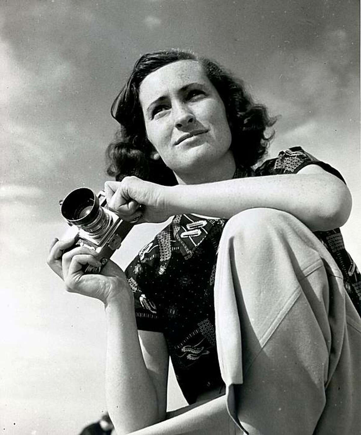 In this undated photo, Mary Morris Lawrence is seen in this self portrait provided by her husband Harold Lawrence. Lawrence, among the first female photographers at The Associated Press, has died. She was 95. Lawrence died Aug. 12, 2009 at her home in Oakland, Calif., her husband, Harold Lawrence, said. Morris worked at AP for three-and-a-half years before leaving in 1940. She went on to work for the New York tabloid PM. Her work also appeared in magazines such as Look, Life and Mademoiselle. (AP Photo/courtesy of Harold Lawrence) ** NO SALES **