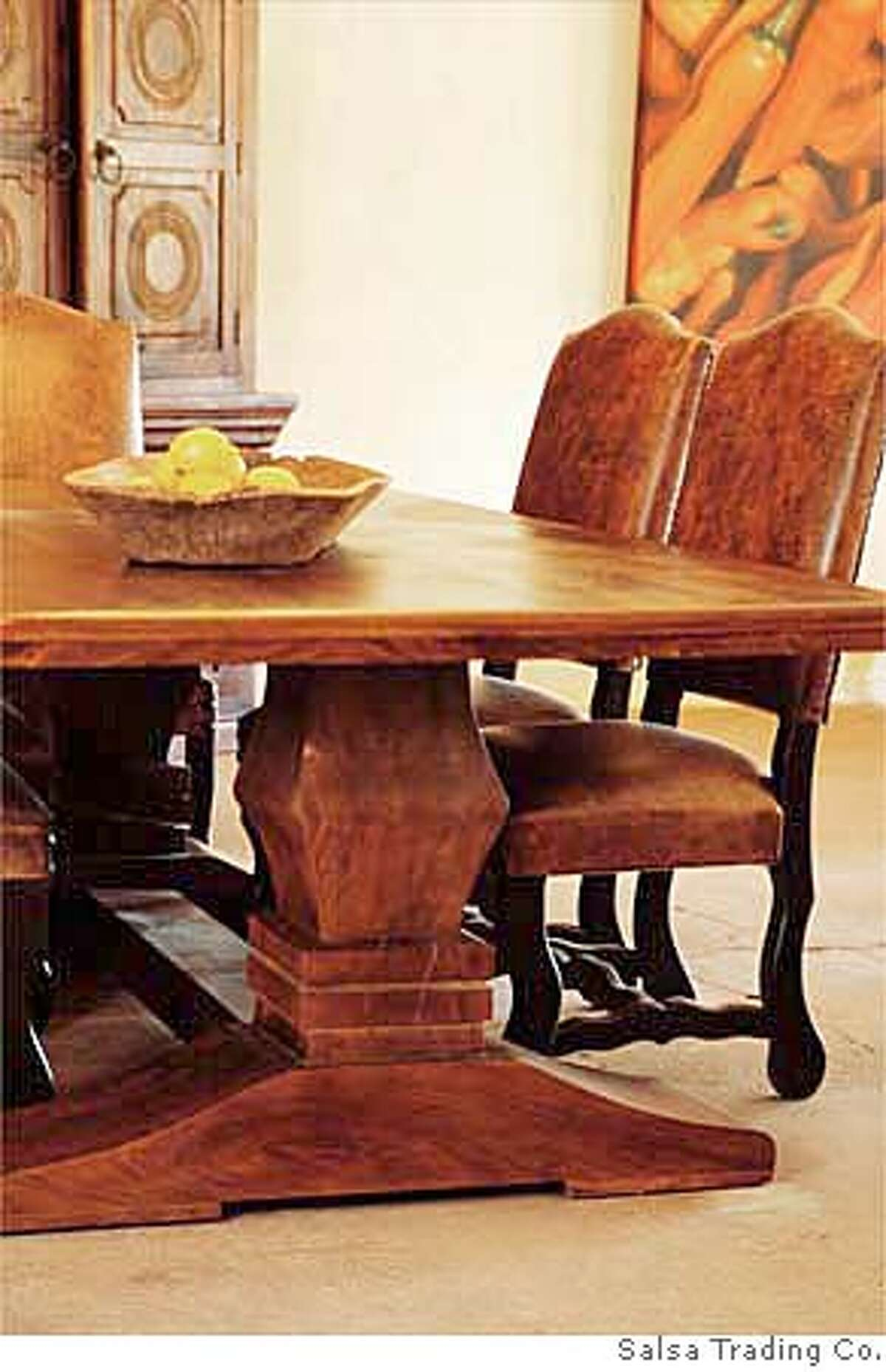 ###Live Caption:Chatsworth Table from Salsa Trading Co., Sonoma###Caption History:Chatsworth Table from Salsa Trading Co., Sonoma###Notes:###Special Instructions: