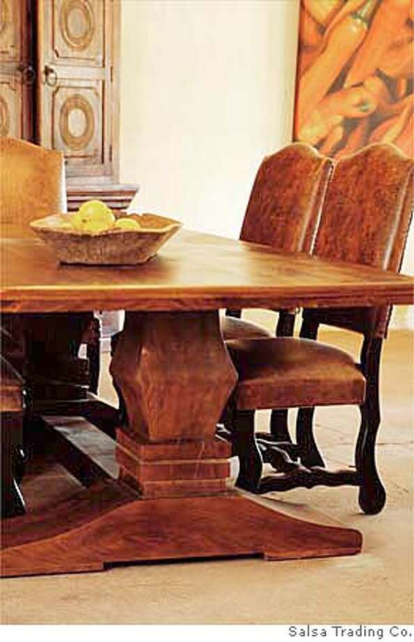 ###Live Caption:Chatsworth Table from Salsa Trading Co., Sonoma###Caption History:Chatsworth Table from Salsa Trading Co., Sonoma###Notes:###Special Instructions: Photo: Unknown