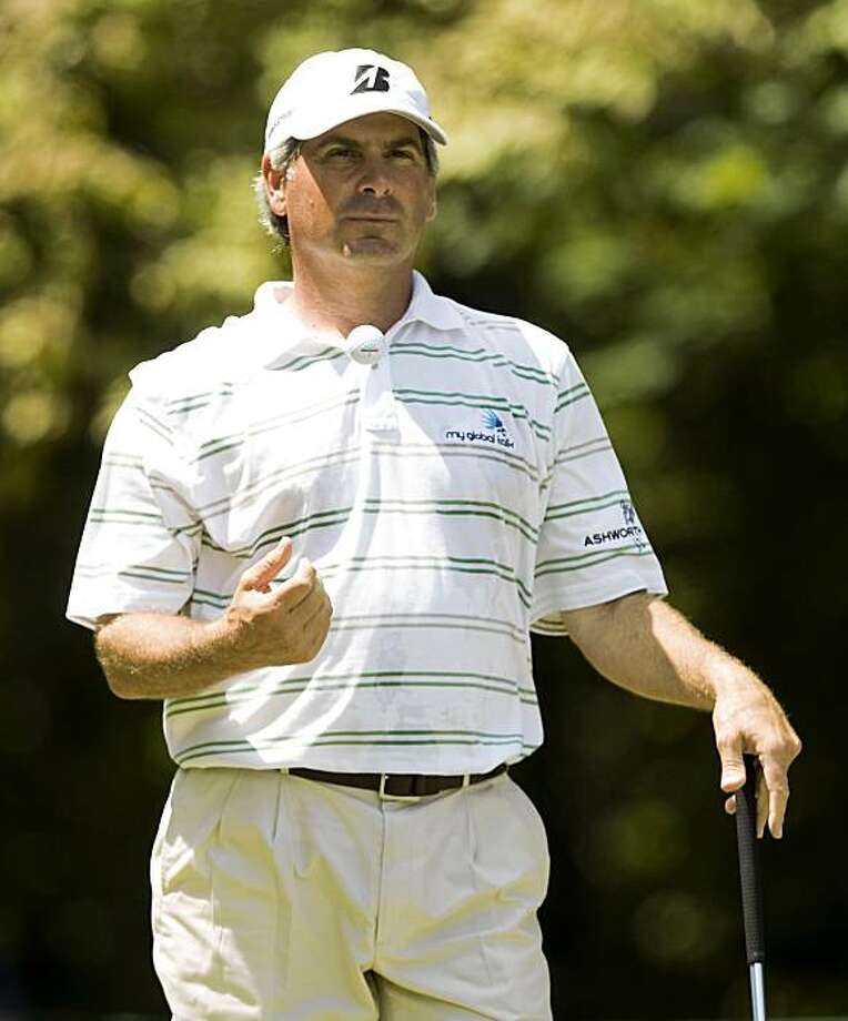 GREENSBORO, NC - AUGUST 22: Fred Couples waits to tee off on the second hole during the third round of the Wyndham Championship at Sedgefield Country Club  on August 22, 2009 in Greensboro, North Carolina. (Photo by Chris Keane/Getty Images) Photo: Chris Keane, Getty Images