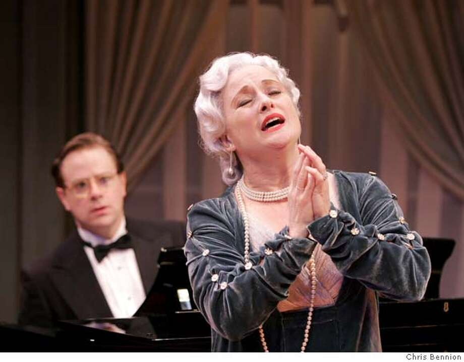 """Patti Cohenour plays the legendary tone-deaf would-be diva Florence Foster Jenkins and Cosme McMoon is her accompanist in San Jose Repertory Theatre's production of Stephen Temperley's """"Souvenir."""" Photo: Chris Bennion Chris Bennion"""