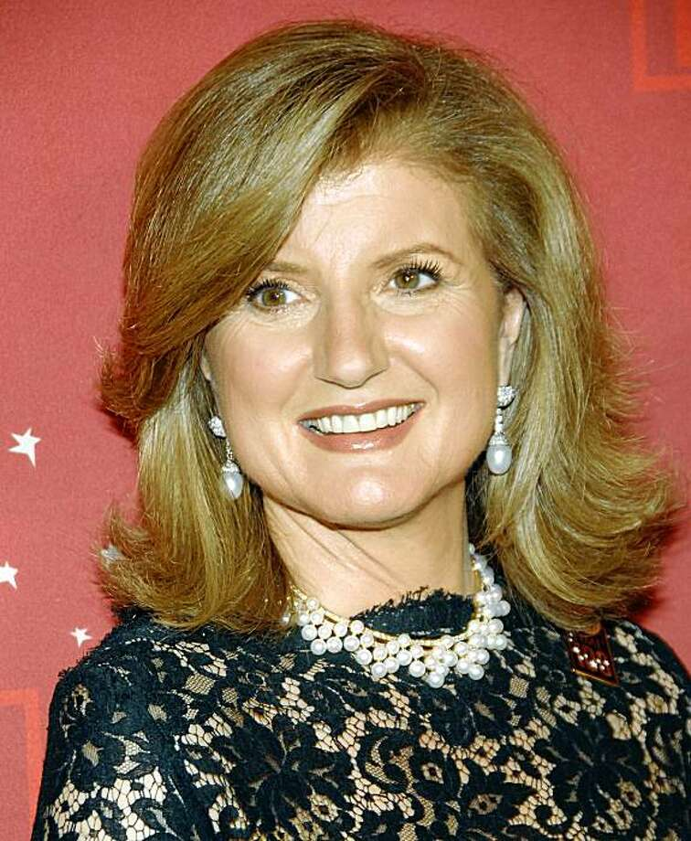 Author and columnist Arianna Huffington attends Time's 100 Most Influential People in the World Gala on Thursday, May 8, 2008 in New York. (AP Photo/Evan Agostini) Photo: Evan Agostini, AP