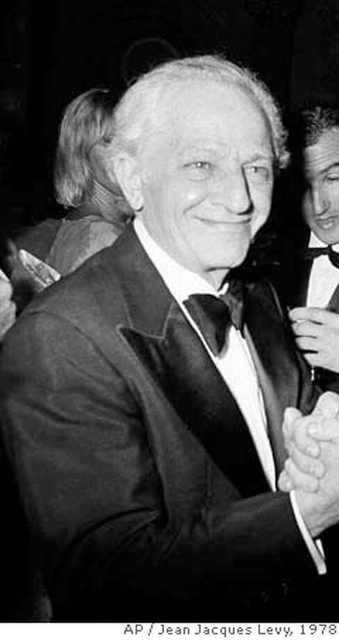 ###Live Caption:**FILE**Film director Jules Dassin at a party in Cannes, France, May 23, 1978. Dassin died late Monday, March 31, 2008, at an Athens hospital, officials said. He was 96.(AP Photo/Jean Jacques file Levy)###Caption History:**FILE**Film director Jules Dassin at a party in Cannes, France, May 23, 1978. Dassin died late Monday, March 31, 2008, at an Athens hospital, officials said. He was 96.(AP Photo/Jean Jacques file Levy)###Notes:###Special Instructions:A MAY 23 1978 B&W FILE PHOTO Photo: Jean Jacques Levy