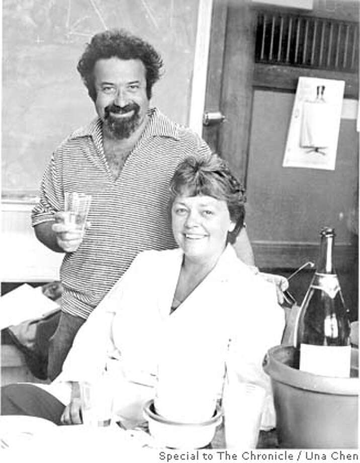 ###Live Caption:obit photo of retired UC Berkeley Professor Robert Mishell, taken in 1974, with his wife Barbara who is still alive. The Mishell's were both victims of a near fatal attack by a Berkeley man later convicted of murder. If you need to credit the photo, is should be to Una Chen, one of their graduate students who took it in 1974.###Caption History:obit photo of retired UC Berkeley Professor Robert Mishell, taken in 1974, with his wife Barbara who is still alive. The Mishell's were both victims of a near fatal attack by a Berkeley man later convicted of murder. If you need to credit the photo, is should be to Una Chen, one of their graduate students who took it in 1974.###Notes:###Special Instructions: Photo: Una Chen