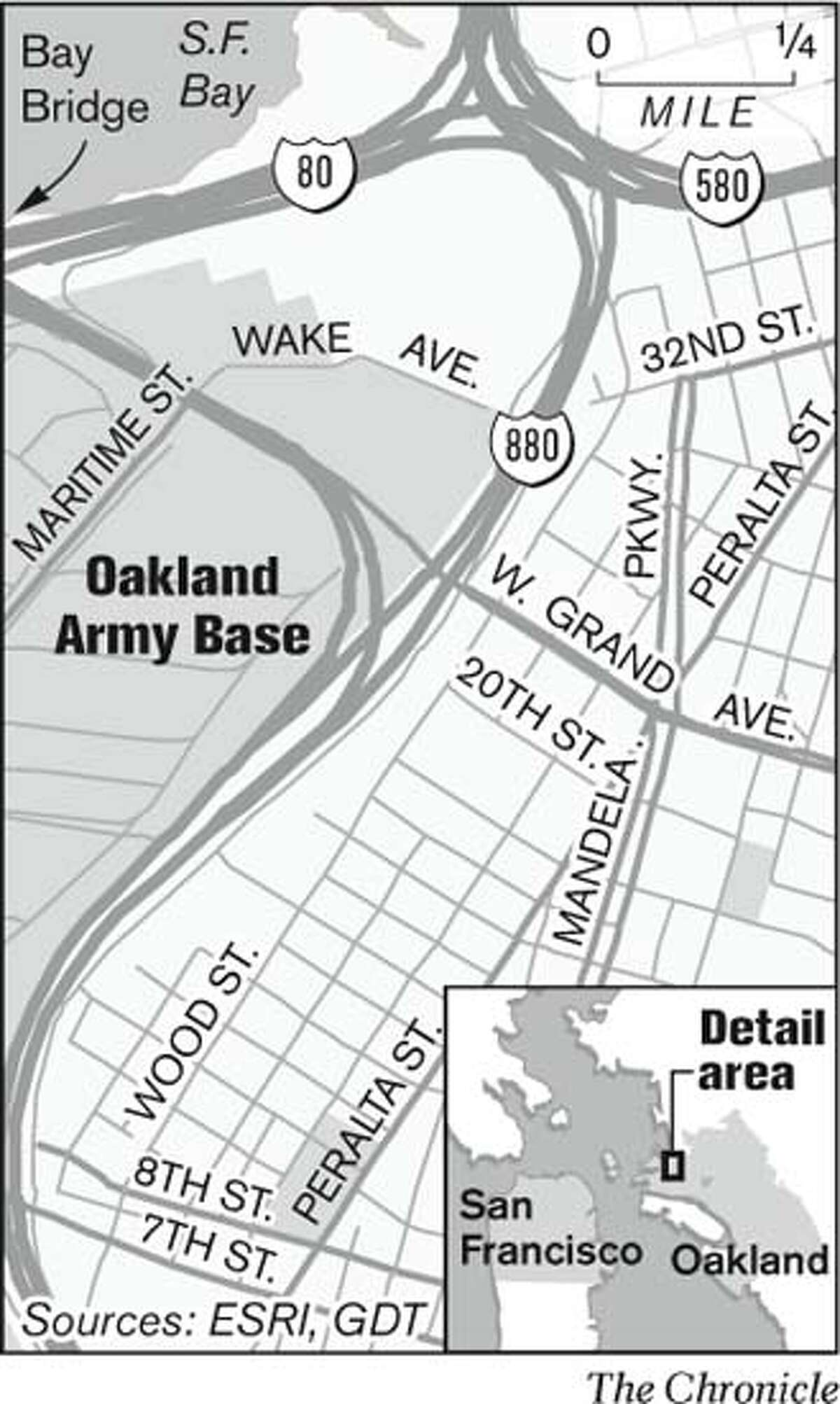 Oakland Army Base. Chronicle Graphic