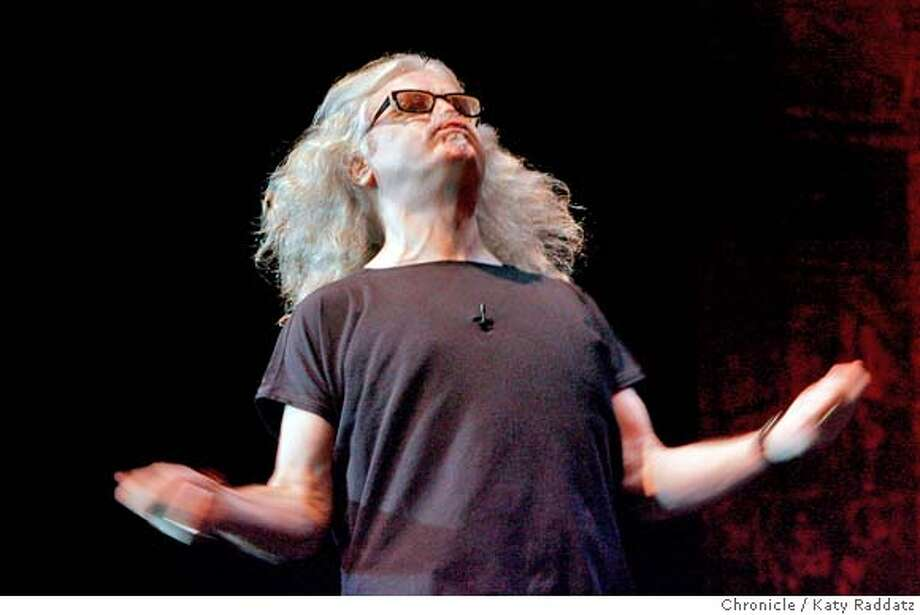 Billy Connolly in a preview performance at the Post St. Theatre, in San Francisco, Calif. on Tuesday, April 1, 2008.  Photo by Katy Raddatz / San Francisco Chronicle Photo: KATY RADDATZ