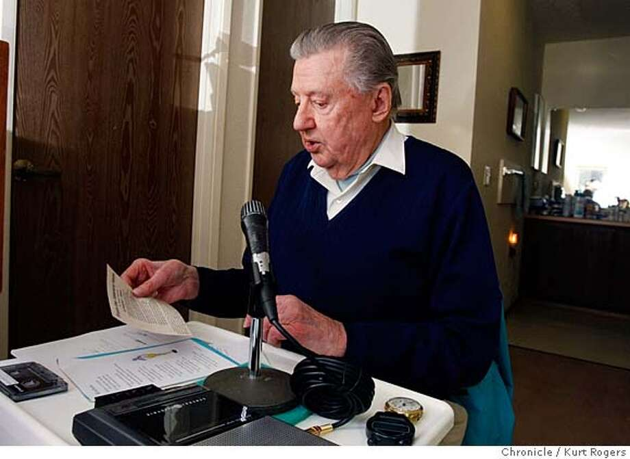 ###Live Caption:Ward Glenn together with Everett Lehman tape Ward's radio show out of Everett's room at the Meadows of Napa a retirement center they together tape two one hour shows.  Everett plays the organ background for Ward to read his poetry the shows are aired on KSVY 91.3 in Sonoma.  Thursday March 20 2008.  Photo By Kurt Rogers / San Francisco Chronicle###Caption History:Ward Glenn together with Everett Lehman tape Ward's radio show out of Everett's room at the Meadows of Napa a retirement center they together tape two one hour shows.  Everett plays the organ background for Ward to read his poetry the shows are aired on KSVY 91.3 in Sonoma.  Thursday March 20 2008.  Photo By Kurt Rogers / San Francisco Chronicle###Notes:Poetry  Ward Glenn  Everett Lehamn###Special Instructions:MANDATORY CREDIT FOR PHOTOG AND SAN FRANCISCO CHRONICLE/NO SALES-MAGS OUT Photo: Kurt Rogers