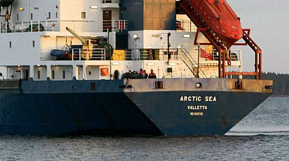 "(FILES) A picture taken on December 29, 2008 shows the cargo ship Arctic Sea in Kotka, Finland on December 29, 2008. The Arctic Sea that vanished two weeks ago in the English channel appears to have been attacked twice, but not in ""traditional"" acts of piracy, a European Union spokesman said on August 14, 2009. The Russian crew of the cargo ship Arctic Sea missing for weeks has been found and transferred in good condition to a Russian naval vessel, Defence Minister Anatoly Serdyukov said on August 17, 2009. AFP PHOTO - LEHTIKUVA / Pekka Laakso *** FINLAND OUT *** (Photo credit should read Pekka Laakso/AFP/Getty Images) Photo: Pekka Laakso, AFP/Getty Images"
