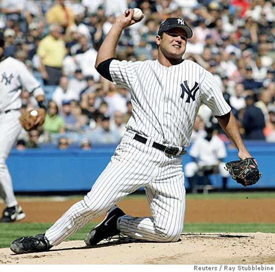 ###Live Caption:Jaret Wright, the oft-injured baseball pitcher who has played for the Cleveland Indians, San Diego Padres, Atlanta Braves, New York Yankees and Baltimore Orioles since 1997, has put his Newport Beach home on the market at close to $1.8 million.###Caption History:New York Yankees pitcher Jaret Wright throws out Toronto Blue Jays batter Gregg Zaun from his knees in the first inning of their game in New York's Yankee Stadium September 24, 2005. Zaun had hit the ball hard and it hit Wright in the chest, but he recovered to get the out. Yankees lost 7-4. REUTERS/Ray Stubblebine Ran on: 10-16-2005  Mike Mussina used to be the ace but came up small against Angels. Ran on: 10-16-2005  Mike Mussina used to be the ace but came up small against Angels. Ran on: 10-16-2005  Mike Mussina used to be the ace but came up small against Angels.###Notes:###Special Instructions:0 Photo: RAY STUBBLEBINE