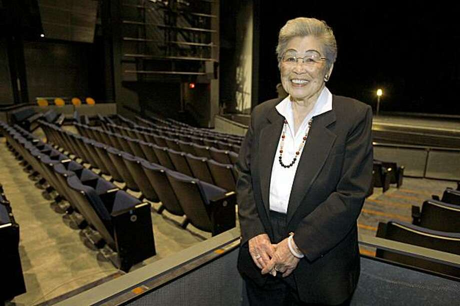 Agnes Chan is a 90-year old San Francisco native and former schoolteacher and for several years she's been an usher at the Yerba Buena Center for the Arts, first as a volunteer and now as a paid staffer on August 7,  2009. Photo: Frederic Larson, The Chronicle