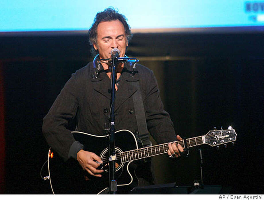 "###Live Caption:generic caption about ""the boss"" Singer Bruce Springsteen performs at the NY Comedy Festival Event ""Stand Up for Heroes: A Benefit for the Bob Woodruff Family Fund"", Wednesday, Nov. 7, 2007 at Town Hall in New York. (AP Photo/Evan Agostini) Ran on: 11-09-2007 Bruce Springsteen was among the performers Wednesday in Manhattan at a benefit for the Bob Woodruff Family Fund.###Caption History:Singer Bruce Springsteen performs at the NY Comedy Festival Event ""Stand Up for Heroes: A Benefit for the Bob Woodruff Family Fund"", Wednesday, Nov. 7, 2007 at Town Hall in New York. (AP Photo/Evan Agostini)  Ran on: 11-09-2007  Bruce Springsteen was among the performers Wednesday in Manhattan at a benefit for the Bob Woodruff Family Fund.###Notes:###Special Instructions: Photo: Evan Agostini"