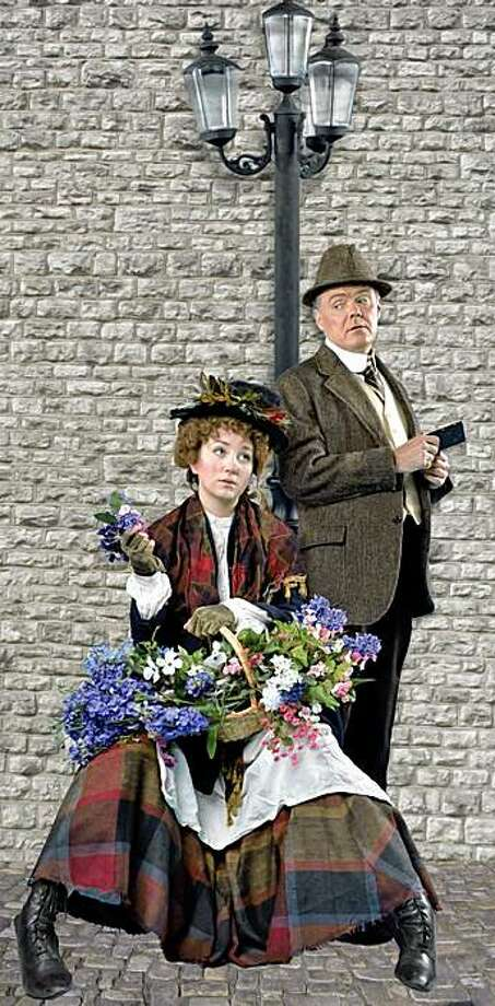 "Sharon Rietkerk as Eliza Doolittle and Tom Reardon as Henry Higgins in  the Lamplighters' productions of ""My Fair Lady."" Photo: David Allen"