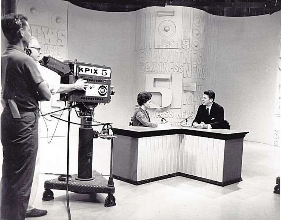 """As the anchor of KPIX-TV's """"The Noon News"""" from 1959 until 1967, Maria Ramey's stories included an interview with Ronald Reagan during his 1966 campaign for governor. Photo: Courtesy Of Kristi Steadman"""
