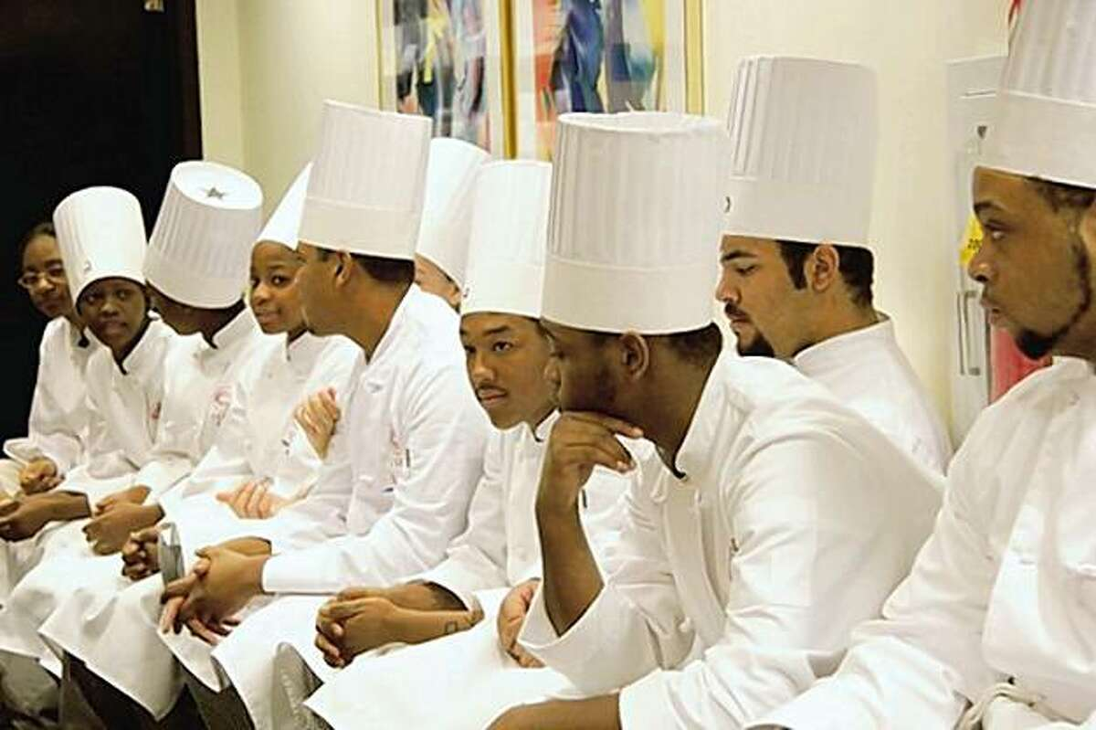 """Students wait to compete in """"Pressure Cooker."""""""