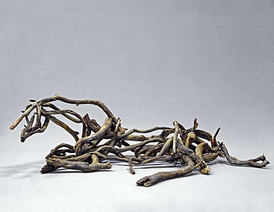 """Kamoe"" (2009) unique bronze by Deborah Butterfield  17"" x 58"" x 36"" Photo: Gallery Paule Anglim, S.F."