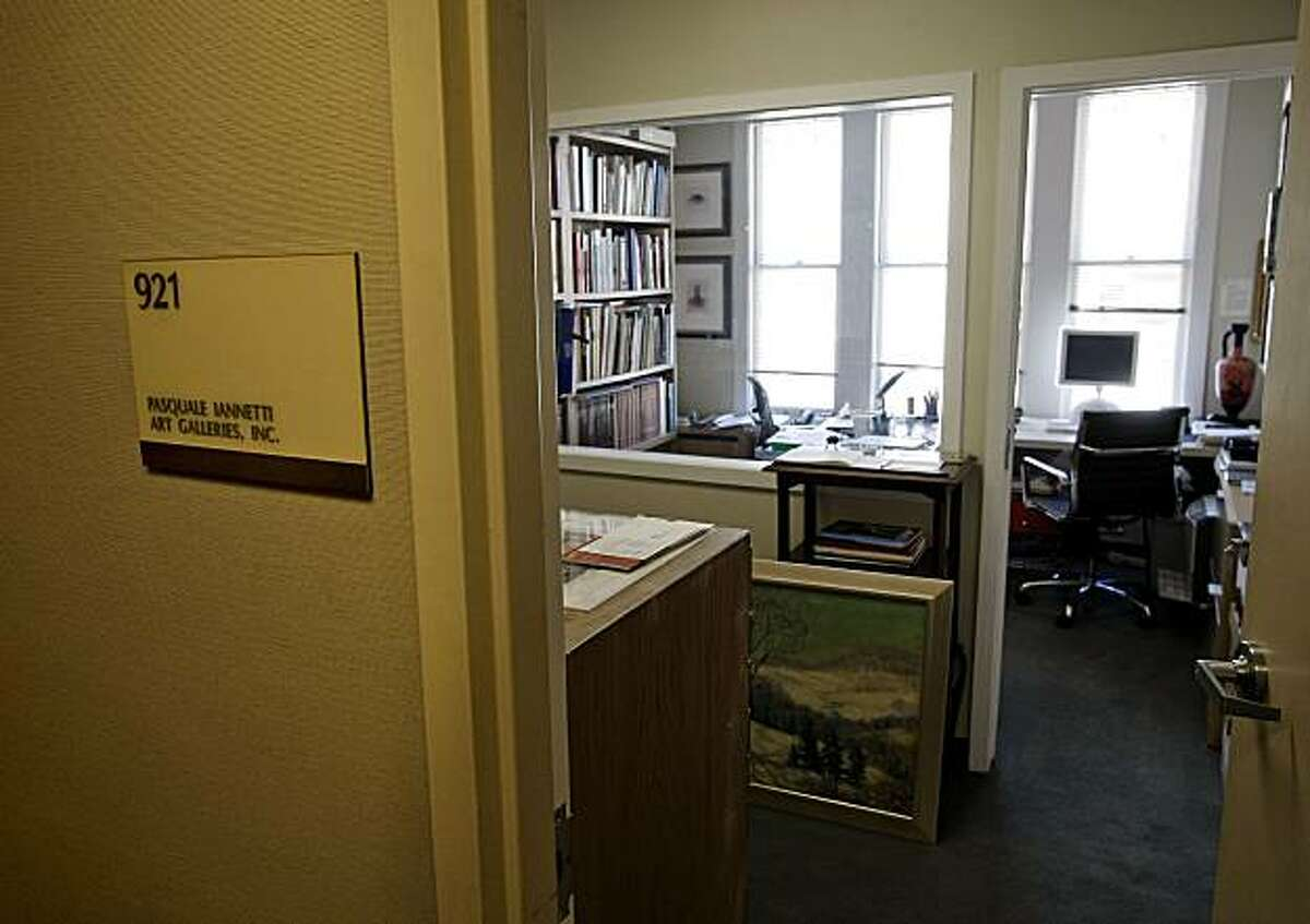 The offices of the Pasquale Iannetti Art Galleries Inc. on Sutter Street in San Francisco, Calif., on Friday August 21, 2009. An indictment has been filed against the Gallery owner for allegedly selling fake Joan Miro prints.