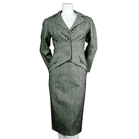 13e3794e20 1955 Dior Couture Tweed Dress   Jacket from Torso Vintages is being sold on  1stdibs.