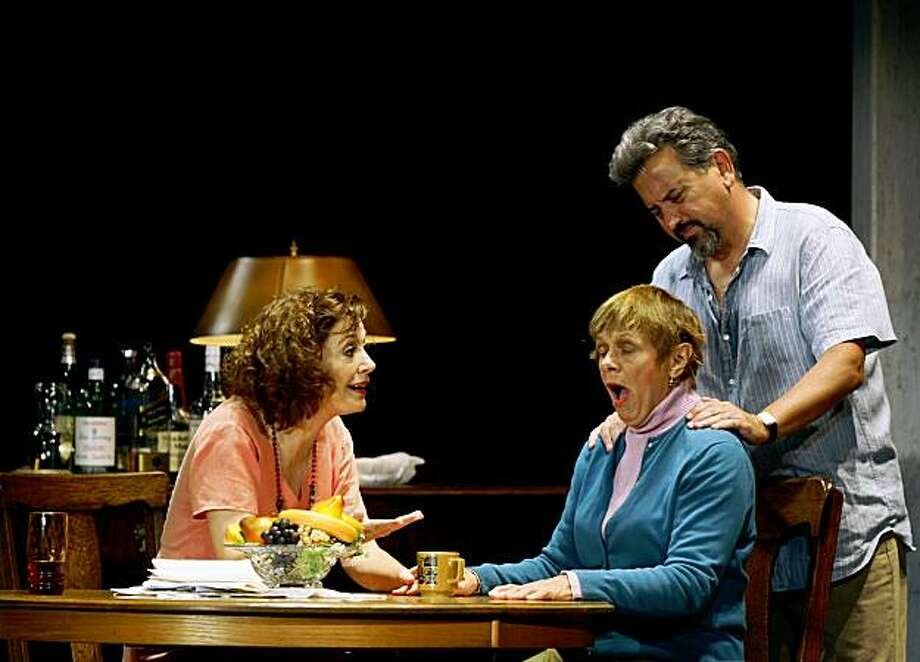 "Shannon Cochran and Jeff Still who play Bill and Barbara Fordham try to comfort Estelle Parson who plays Violet Weston in ""August: Osage County"" now at San Francisco's Curran Theatre Aug 12, 2009.The original Broadway set was transported and reassembled for the first national tour that's starting in San Francisco. Photo: Lance Iversen, The Chronicle"
