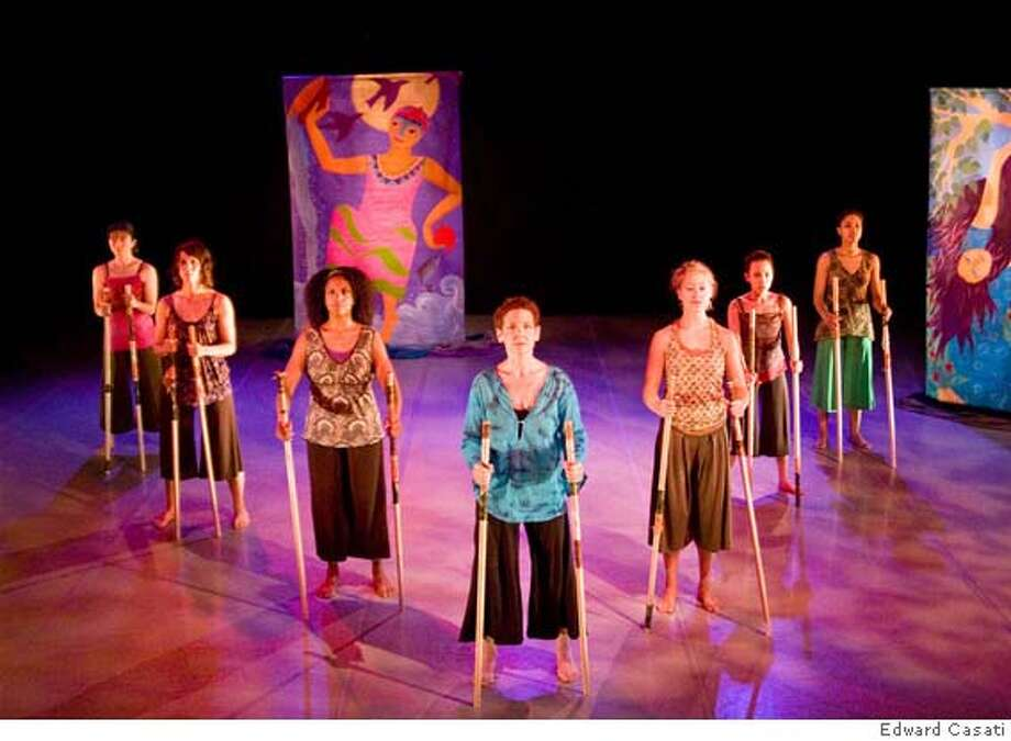 "Anne Bluenthal and Dancers Ensemble (L to R): Karen Lentz, Amy DaSilva, Laura Elaine Ellis, Anne Bluethenthal, Claudia Hubiak, Frances Sedayao, Alyah Baker will perform ""Carino: Economy of the Heart,"" March 21 - 29, 2008 at Project Artaud Theatre in San Francisco. Photo: Edward Casati"