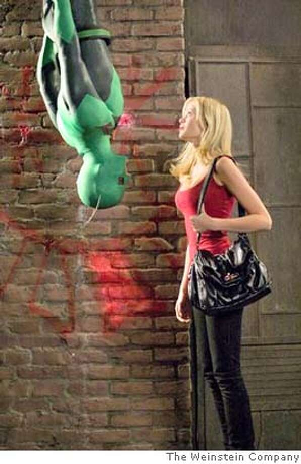 """Drake Bell and Sara Paxton in the movie """"Superhero Movie."""" Photo: The Weinstein Company"""