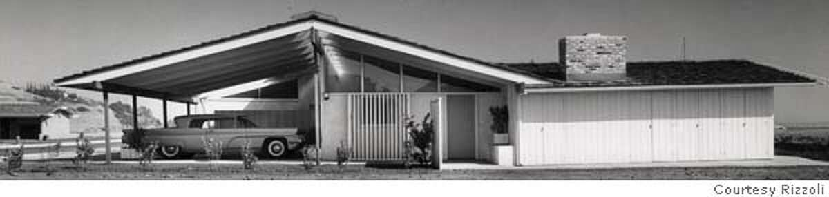 ###Live Caption:Cliff May, designer/ builder who made the modern ranch house popular, particulalry in suburban America designed this type of home that integrated the car and the home in a seamless design. Instead of hiding garages and carports, this car enthusiast celebrated the car, placing gargaes in front of the house. He worked mainly in the post war years through the 60s, building tract homes such as this one, and in the last years before he died in 1989, he concentrated on large sprawling custom homes and farm houses which had all the hallmarks of his suburban developments designed to promote indoor/outdoor living, California style.###Caption History:Cliff May, designer/ builder who made the modern ranch house popular, particulalry in suburban America designed this type of home that integrated the car and the home in a seamless design. Instead of hiding garages and carports, this car enthusiast celebrated the car, placing gargaes in front of the house. He worked mainly in the post war years through the 60s, building tract homes such as this one, and in the last years before he died in 1989, he concentrated on large sprawling custom homes and farm houses which had all the hallmarks of his suburban developments designed to promote indoor/outdoor living, California style.###Notes:###Special Instructions: