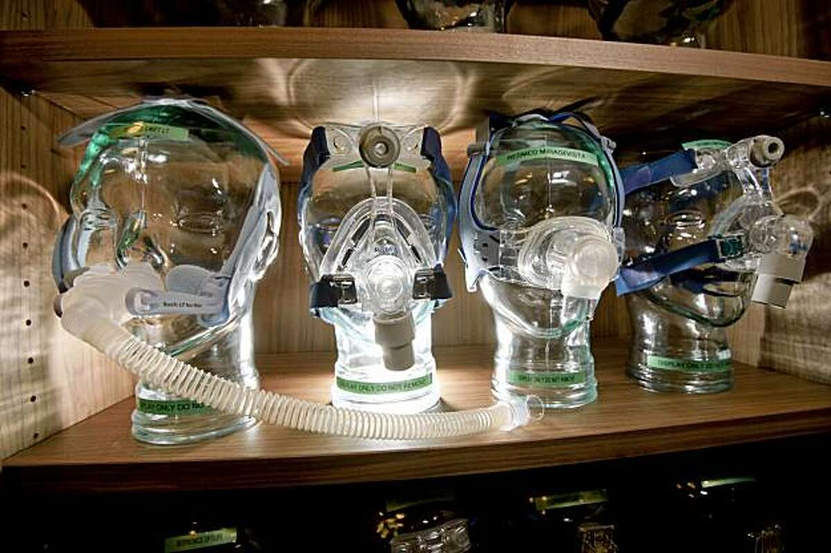 CPAP devices are seen at Stanford's Center for Human Sleep Research August 5, 2009 in Redwood City, California.
