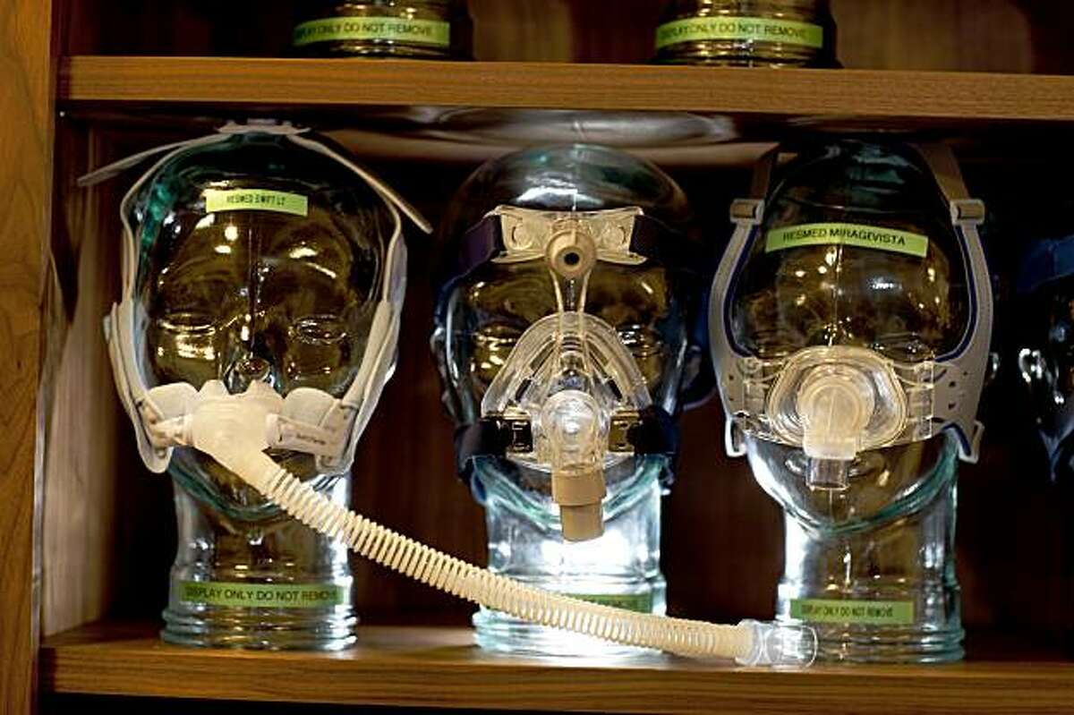 CPAP devices are seen at Stanford's Center for Human Sleep Research August 5, 2009 in Redwood City, California. (Photography by David Paul Morris / Special to the Chronicle)