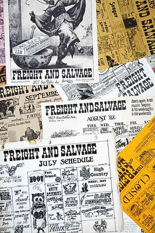Calendar listing from the Freight and Salvage are a reminder of decades for folk music on Monday Aug 4, 2009 in Berkeley, Calif. Photo: Mike Kepka, The Chronicle