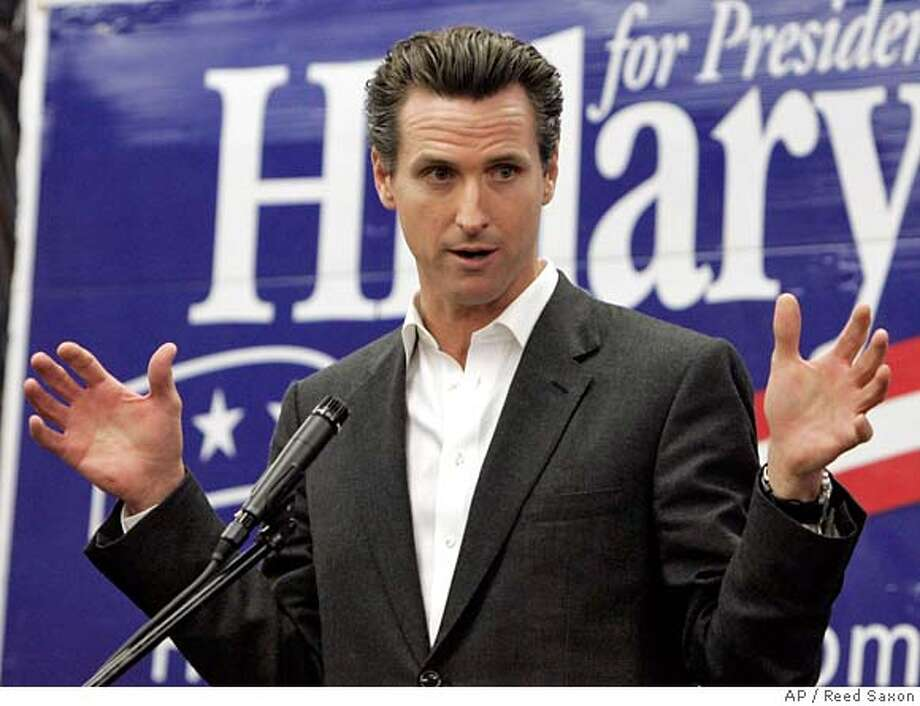 ###Live Caption:Mayor Gavin Newsom of San Francisco, Calif., joins other California mayors to promote Democratic presidential hopeful Hillary Rodham Clinton's economic stimulus package as a measure to improve the lives of working families, at Clinton's East Los Angeles campaign office Wednesday, Jan. 30, 2008. (AP Photo/Reed Saxon)###Caption History:Mayor Gavin Newsom of San Francisco, Calif., joins other California mayors to promote Democratic presidential hopeful Hillary Rodham Clinton's economic stimulus package as a measure to improve the lives of working families, at Clinton's East Los Angeles campaign office Wednesday, Jan. 30, 2008. (AP Photo/Reed Saxon)  Ran on: 02-11-2008  Gavin Newsom and Aaron Peskin, right, have been feuding.  Ran on: 02-11-2008 Ran on: 02-11-2008 Ran on: 02-11-2008 Ran on: 02-13-2008  Leal  Ran on: 02-20-2008  Gavin Newsom  Ran on: 02-20-2008  Gavin Newsom  Ran on: 02-29-2008  Mayor Gavin Newsom's proposal is similar to the North Beach safety crackdown of 2006.  Ran on: 02-29-2008  Mayor Gavin Newsom's proposal is similar to the North Beach safety crackdown of 2006.  Ran on: 02-29-2008  Mayor Gavin Newsom's proposal is similar to the North Beach safety crackdown of 2006.  Ran on: 02-29-2008  Mayor Gavin Newsom's proposal is similar to the North Beach safety crackdown of 2006.  Ran on: 02-29-2008  Mayor Gavin Newsom's proposal is similar to the North Beach safety crackdown of 2006.  Ran on: 02-29-2008  Mayor Gavin Newsom's proposal is similar to the North Beach safety crackdown of 2006.  Ran on: 02-29-2008  Mayor Gavin Newsom's proposal is similar to the North Beach safety crackdown of 2006.  Ran on: 02-29-2008  Mayor Gavin Newsom's proposal is similar to the North Beach safety crackdown of 2006.  Ran on: 03-19-2008 Ran on: 03-19-2008 Ran on: 03-19-2008###Notes:Gavin Newsom###Special Instructions: Photo: Reed Saxon