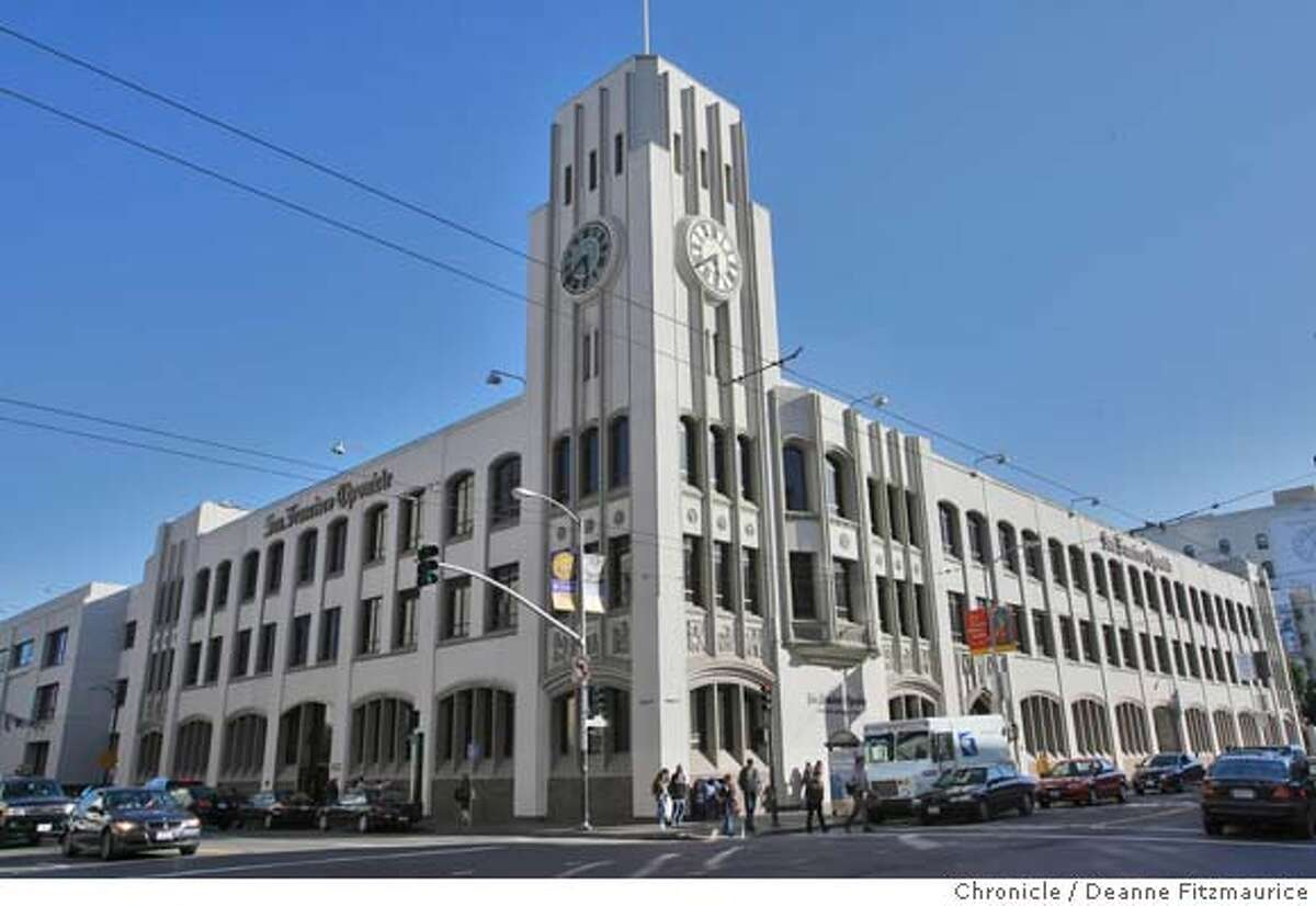 Undated photo of the San Francisco Chronicle building chronicle_022_df.jpg The San Francisco Chronicle building at 901 Mission Street on the corner of Fifth Street in San Francisco on 4/12/07. Deanne Fitzmaurice / The Chronicle Ran on: 10-25-2007 The Chronicle building at Fifth and Mission streets could be sold. Ran on: 10-25-2007 The Chronicle building at Fifth and Mission streets opened in 1924.