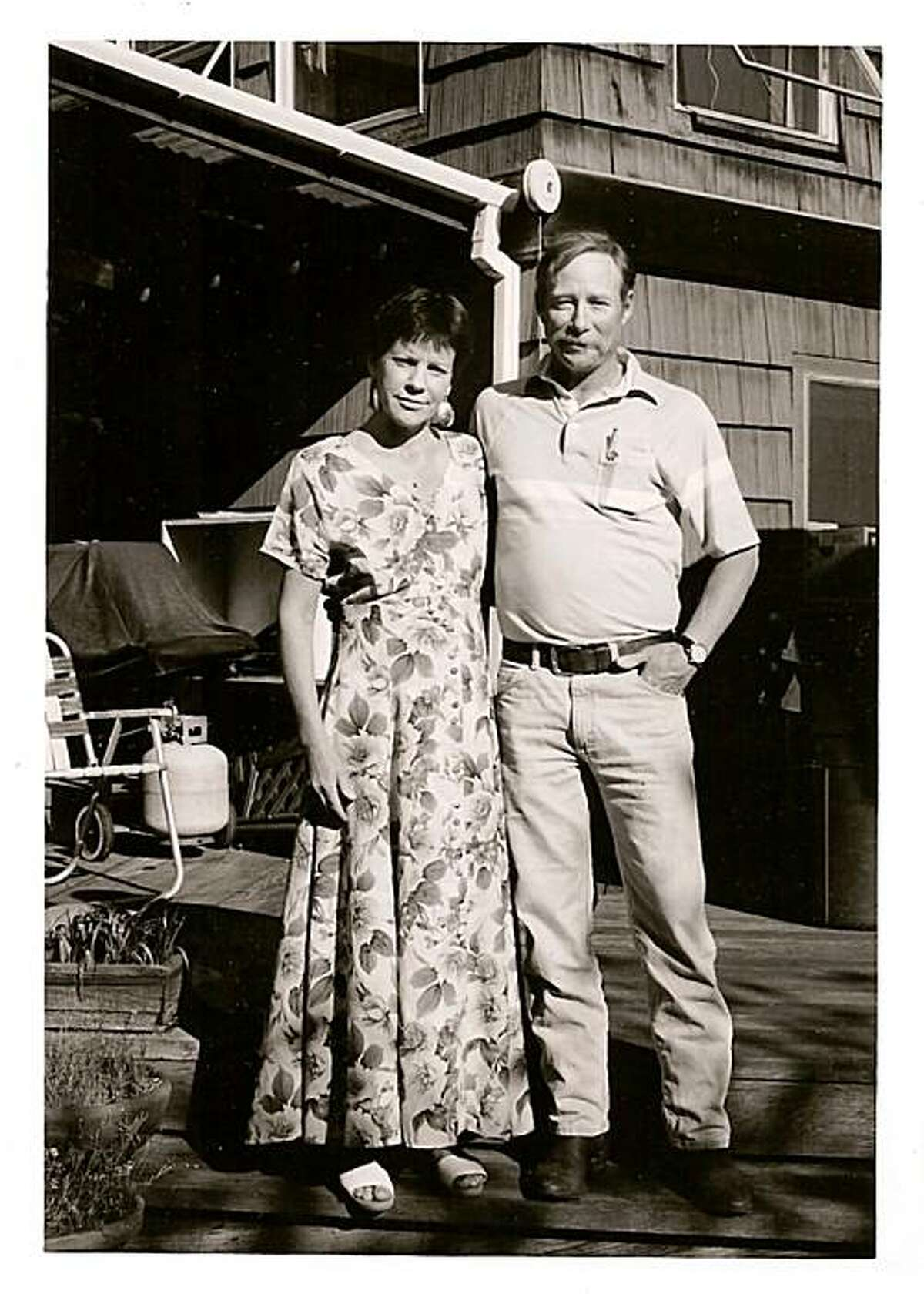 Jan Kerouac and her cousin Paul Blake, Jr., (Jack Kerouac's nephew) in Corte Madera, Cal., April 1995.